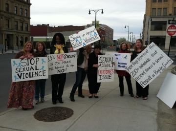 SAAM, Rally, Elizabeth Freeman Center, Gabrielle Senza, Great Barrington, Sexual Assault